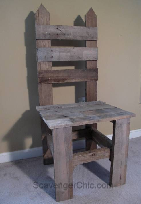 How to make a Pallet Wood Garden Chair