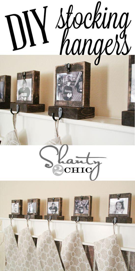 Easy Diy Wooden Stocking Hangers! Perfect idea!