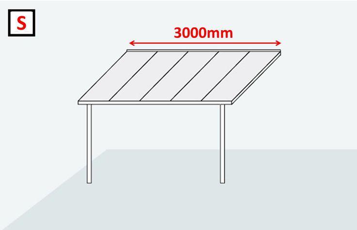 Terrassendach & Carport - Bausatz Typ A - 3000x3000mm