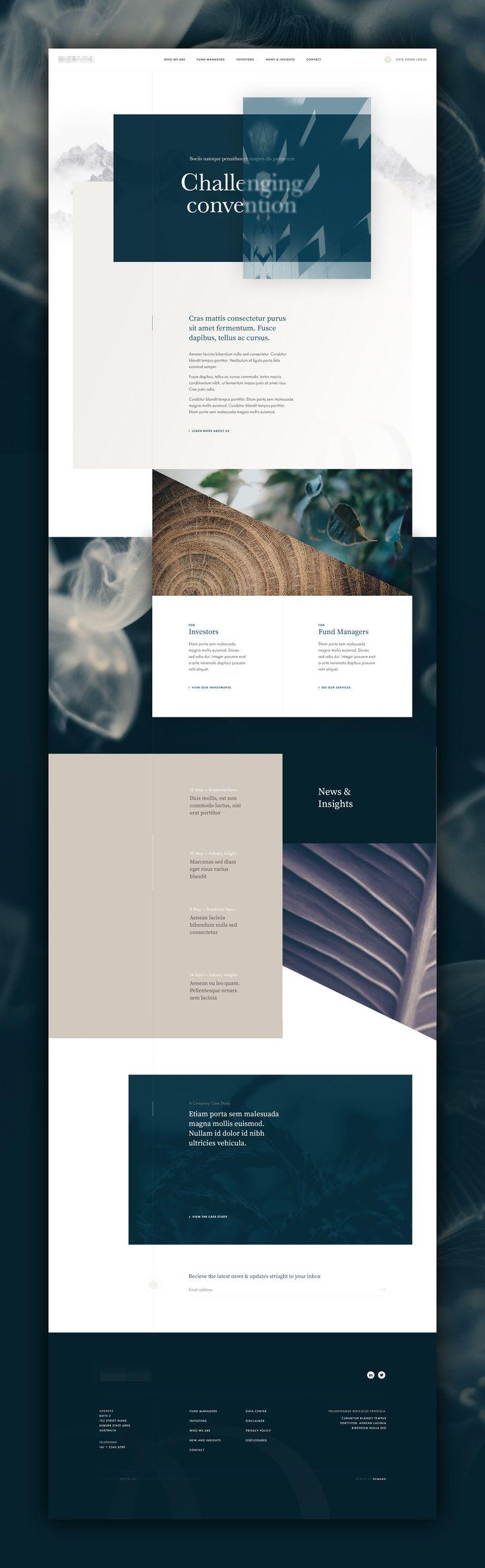 unused homepage concept | by Kylie Timpani – Stefan Petig