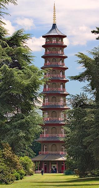 The Pagoda at Kew Gardens. Sadly no longer safe to go inside this famous folly.