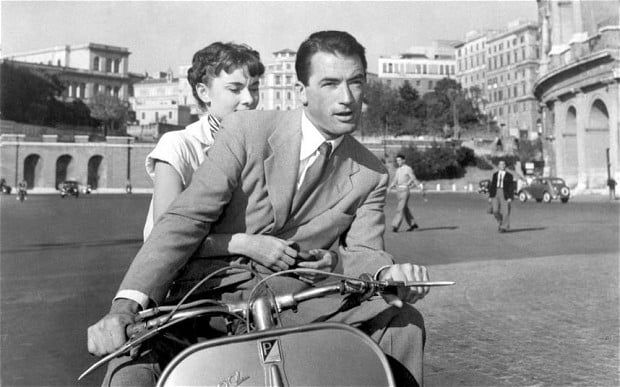 Audrey Hepburn and Gregory Peck in Roman Holiday, 1953- Shawn Frank