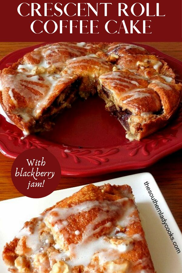 Delicious, easy recipe for coffee cake made with crescent