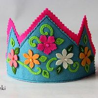 Felt Crowns for Kids #‎butterfly #‎crown #‎felt #‎girls #‎kids #name #photo prop #KashKi