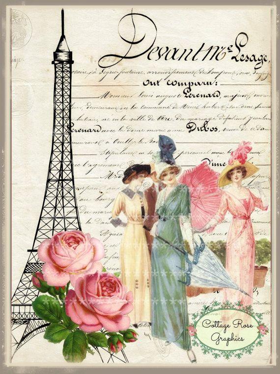 Rosas vintage en Paris grandes descarga digital comprar 3 Obtén una casa rural romántica gratis imagen ECS