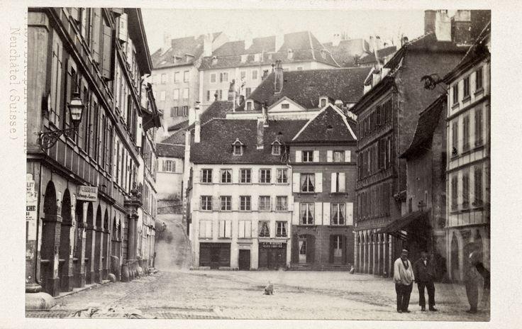 Neuchâtel au XIXe siècle: la place du Coq-d'Inde