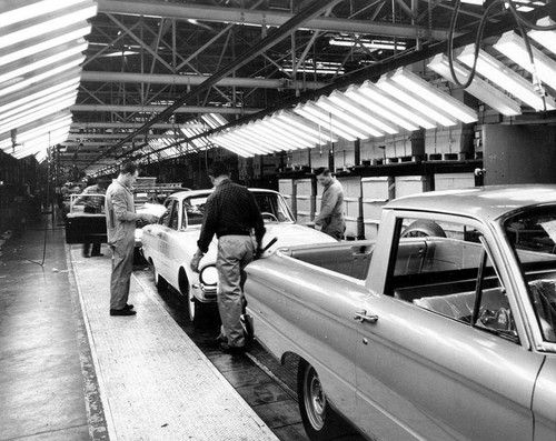 E Car >> Falcon/Ranchero assembly line.... | Ford Heritage | Pinterest | Falcons, Ford and Combustion engine