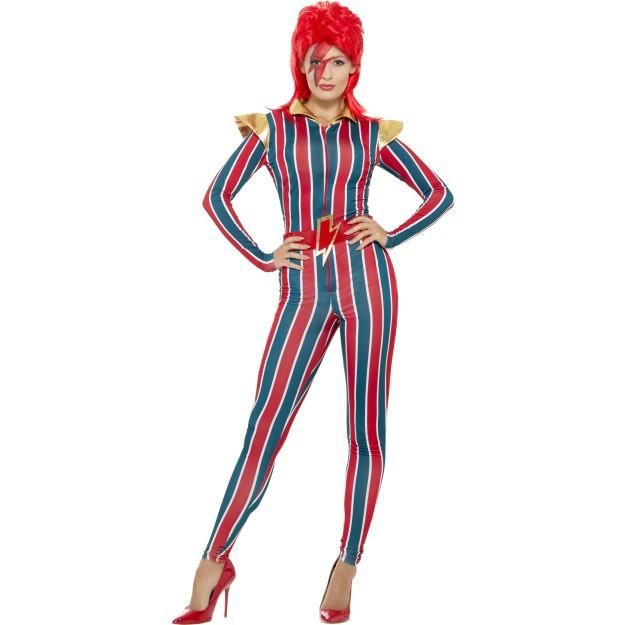 Miss Space Superstar Costume, Multi-Coloured, with Jumpsuit & Belt, Large