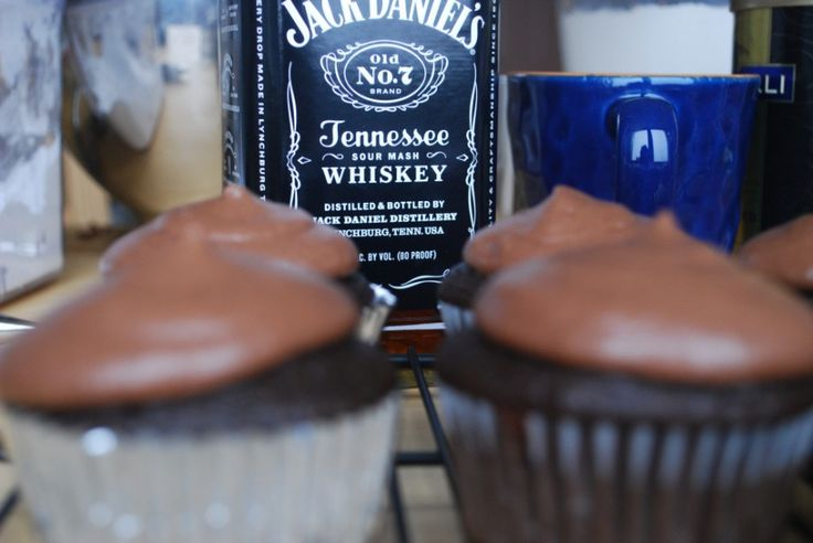 Who wouldn't  these Jack Daniels Cupcakes! They're a perfect AO Treat for any party.