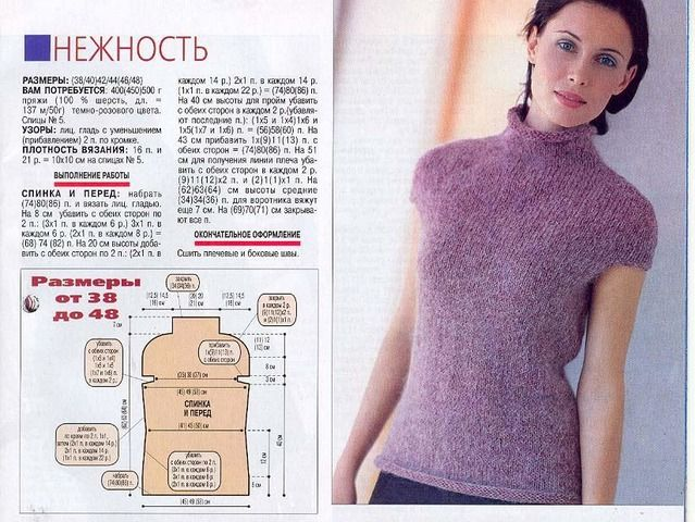 схема вязаный жилет спицами мохер гладью: 24 тыс изображений найдено в Яндекс.Картинках