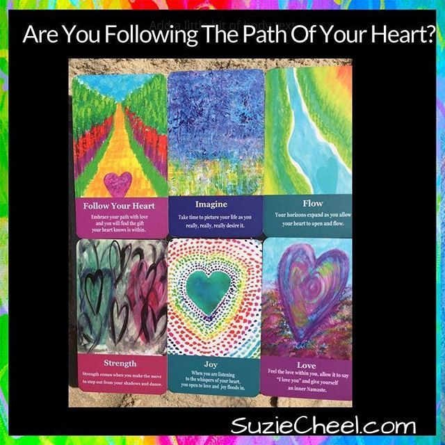 ARE YOU FOLLOWING THE PATH OF YOUR HEART?  Are you being true to the message thats within you that the world is waiting to hear?  Todays journal/story prompt came from reading Katrina Ruths post from yesterday.  Whats inside of you that you are now ready to share boldly each day?   Shuffling the cards brought up the question: Are you really following the path of your heart? FOLLOW YOUR HEART  was the first card I turned over Sit in stillness and ask: Am I aligned  to the truth of me? Are you…