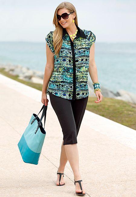 Plus Size Sheer Style @ Cato Fashion
