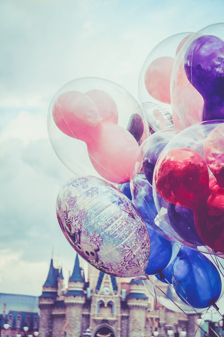 I thought this was some kind of Jeff Koons piece.  But no it's just balloons at Disney World.