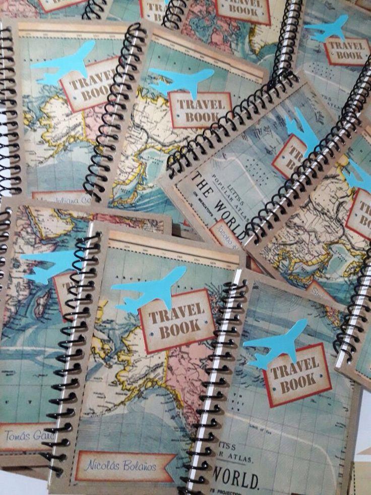 Travel theme party. Fiesta viajes. Libro de viajes.