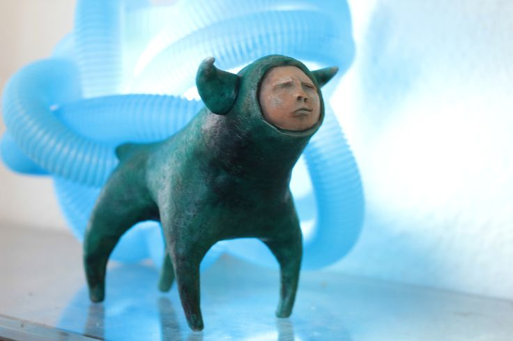 blue human bull