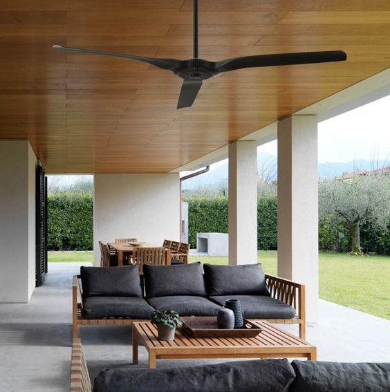 """The Radical Ceiling fan is a popular choice for outdoor, undercover applications as a result of its sleek, three blade design and a larger 60"""" blade span."""