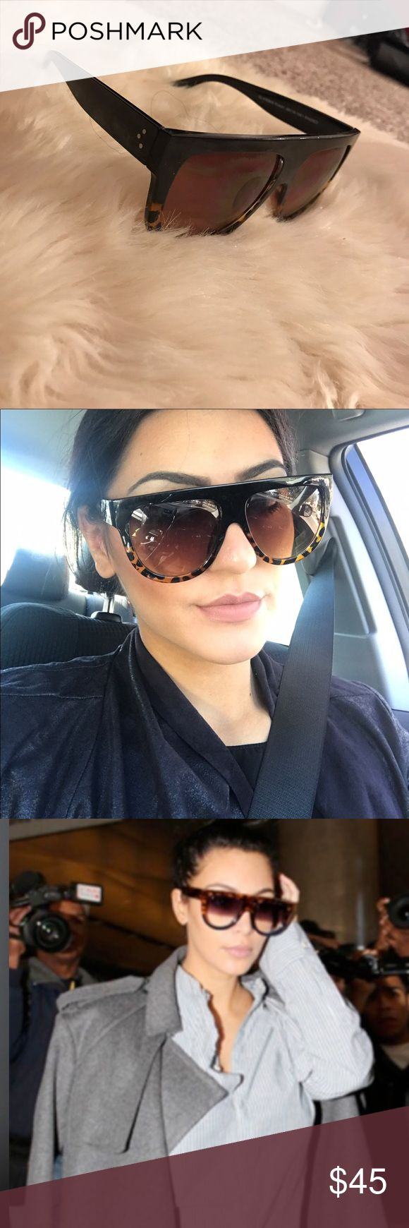 As seen on KIM Kardashian Celine flat top sunglasses 41026. Price reflects auth. These are dupes. My price is firm!!! Celine Accessories Sunglasses