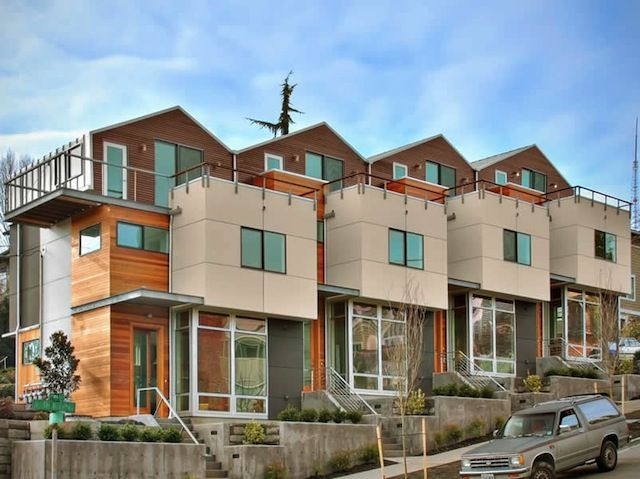 Tiny Home Designs: Seattle Townhome Architecture - 4-Plex