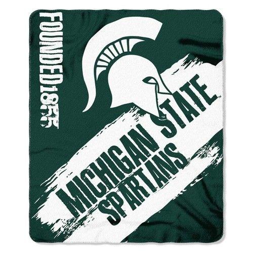 Michigan State Spartans Blanket 50x60 Fleece College Painted Design