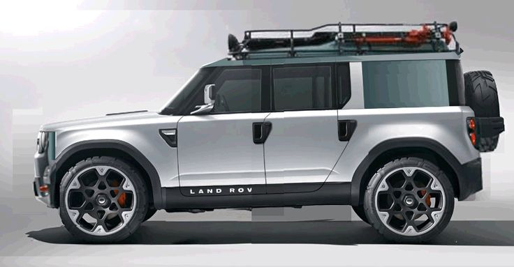 Double Cab - Land Rover New Defender DC100 concept - modified with new front end, added Land Rover ruggedness