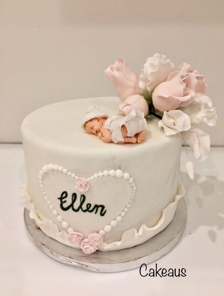 Kastekakku, ristiäiskakku tytölle Baby girl cake