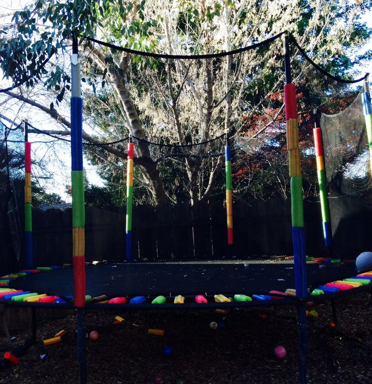 Rainbow Trampoline ?? Using Only Pool Noodles