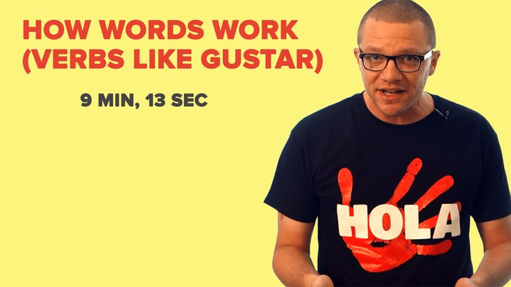 "In this lesson, you'll learn how to use words like ""gustar"" and ""encantar"". Words that sure seem to work in the opposite way that most verbs do. Free Practice Resources: Word List: Verbs Like Gustar Practice Worksheet: Verbs Like Gustar Answer Key: Verbs Like Gustar Related Videos: Direct Object Pronouns The Personal A Indirect Object Pronouns"