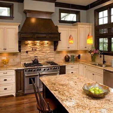 Kitchen Design Ideas, Pictures, Remodels and Decor/ blue griege