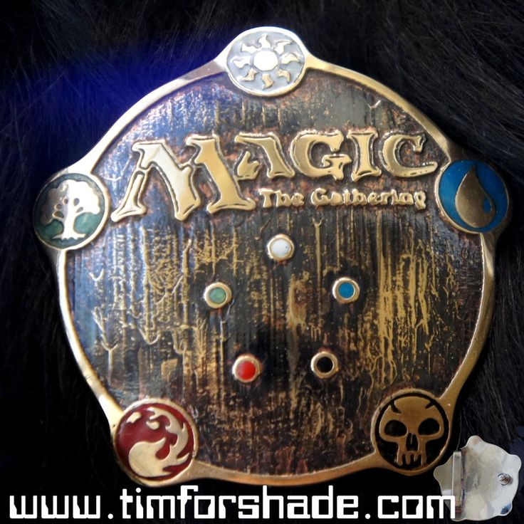 Magic The Gathering belt buckle MTG by TimforShade on DeviantArt