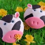 Op de boerderij: Koeien cupcakes