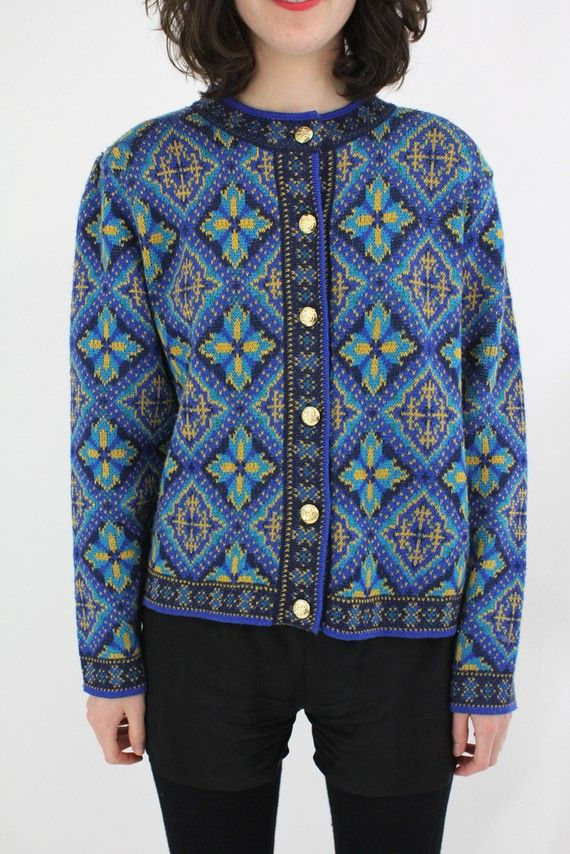 vintage 1980's WINTER in SWEDEN cardigan