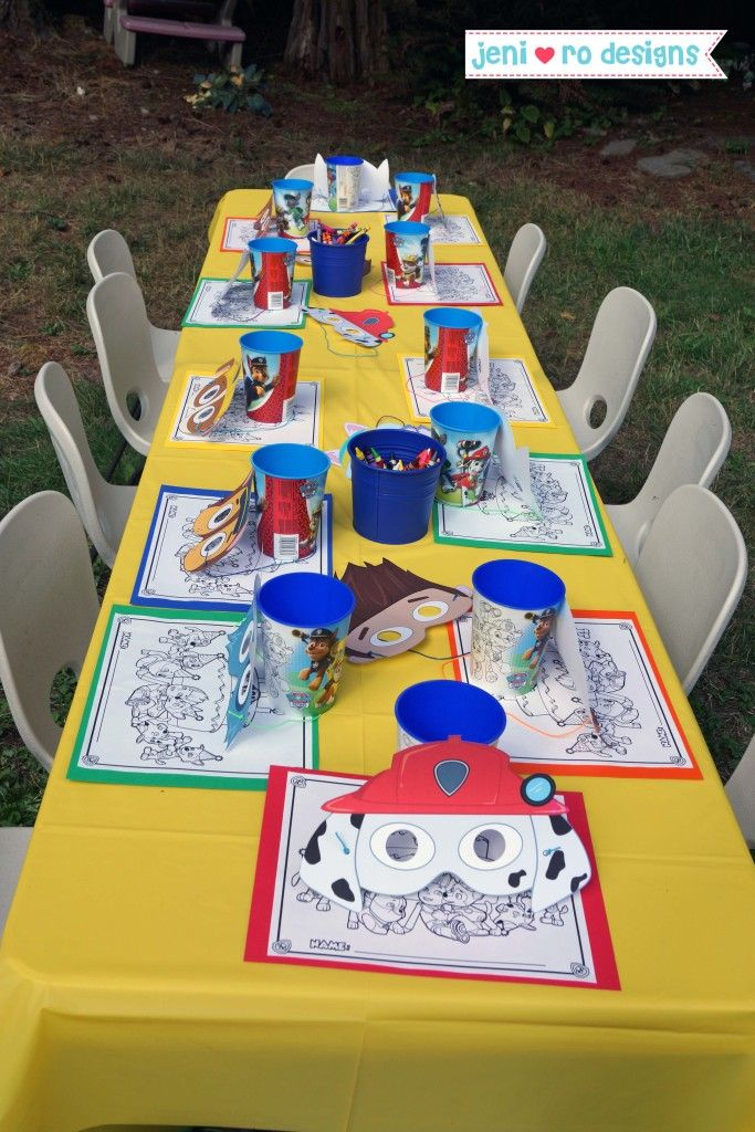 Mr. V�s Paw Patrol 4th Birthday Party � The details!