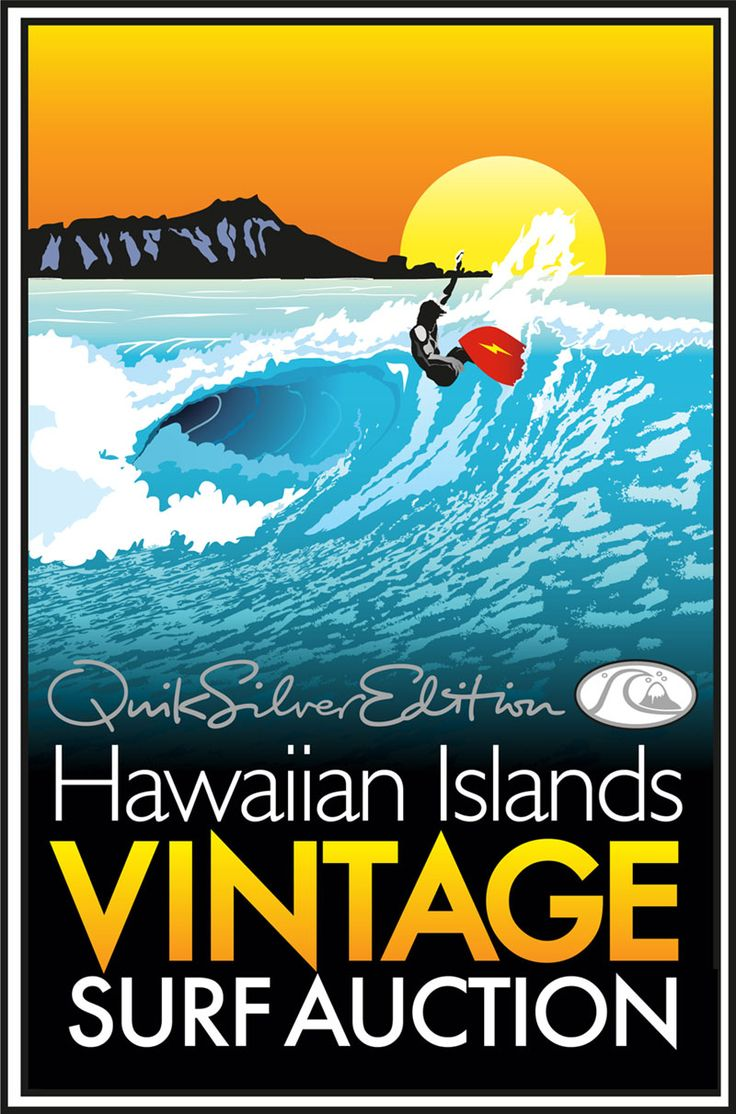 surf art | ... Surf Auction - A Classic Collection of Island Surfboards, Art, and