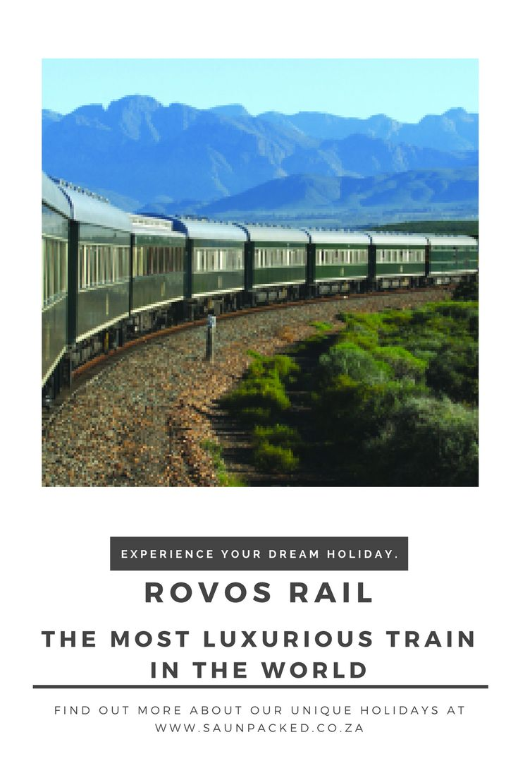 If you want to experience South Africa in unmatched 5 star luxury. Take the Rovos Rail from Pretoria to Cape Town and step into a world of style.