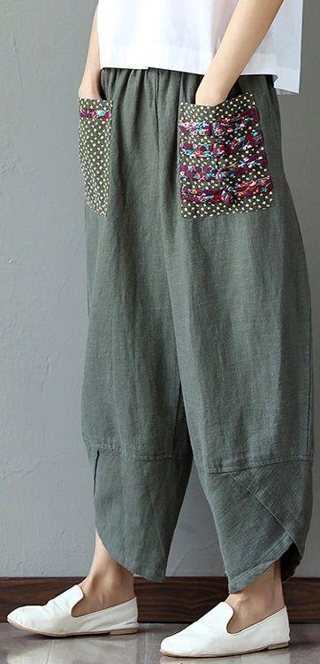 SHOP NOW>>$39.58 Women Casual Printed Loose Elastic Band Wide Leg Pants