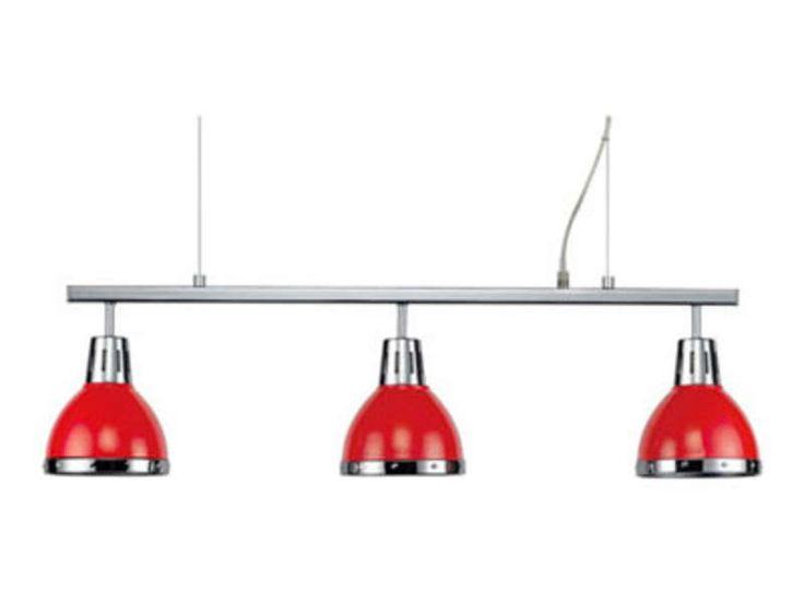 Les 25 meilleures id es de la cat gorie lustre rouge sur for Suspension 3 lampes pour cuisine