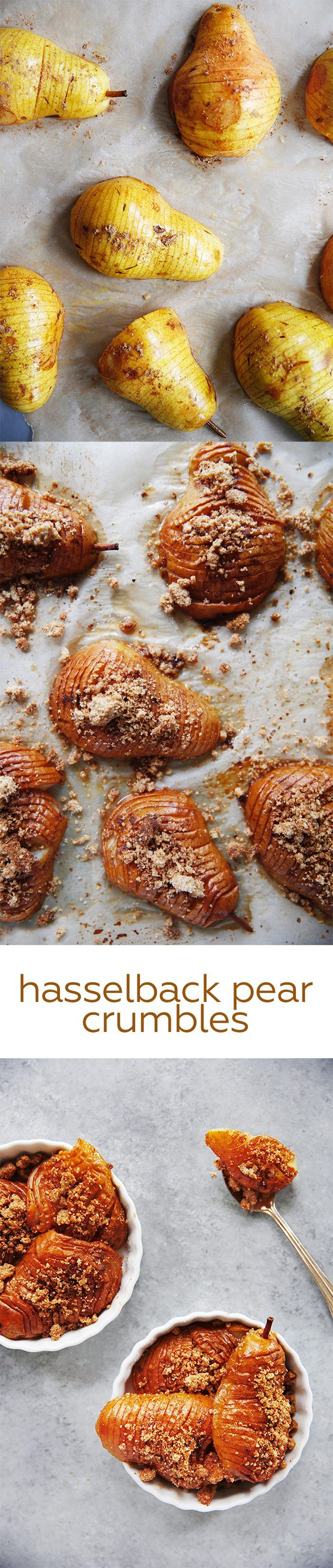 Hasselback Pear Crumbles (gluten-free and grain-free) | Lexi's Clean Kitchen