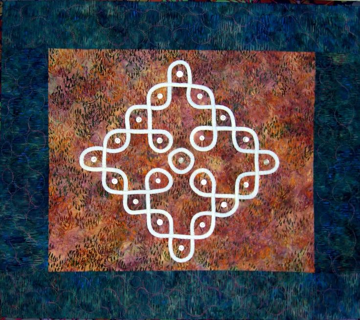 Invocation, kolam quilt by Lauren Kingsland