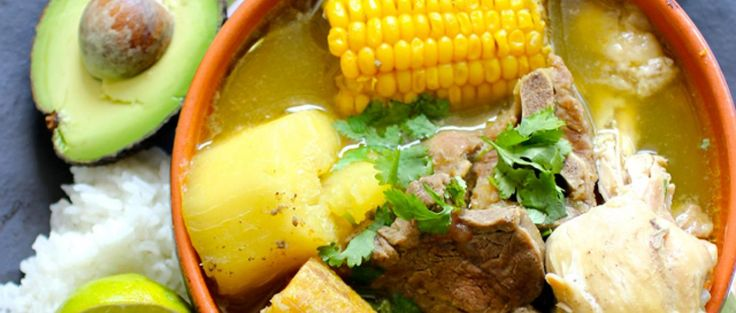 Sancocho Trifásico (Three Meats Sancocho).... very thick soup made with root vegetables and different kinds of meats, in a broth, usually flavored with herbs (cilantro or parsley), achiote, garlic, onion and bell peppers