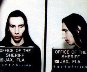 Marilyn Manson police mugshot