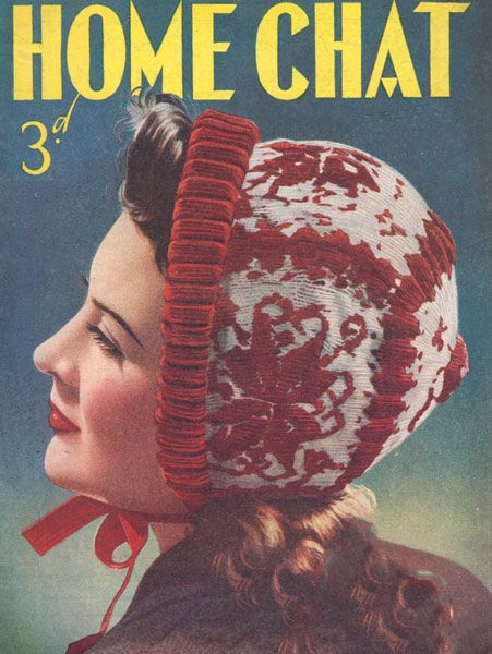 1940 bonnet pattern knitting