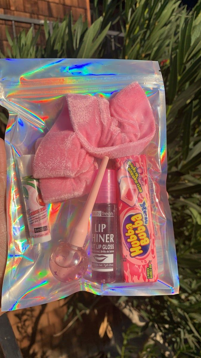 This Bundle Comes With A Pink Scrunch Raspberry Roll On