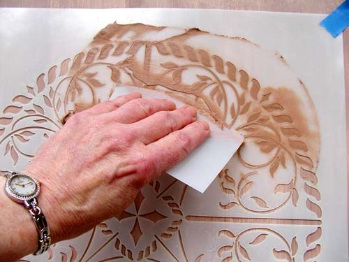 This is cool looking. Create Raised Designs on Just About Anything With Plaster Stencils
