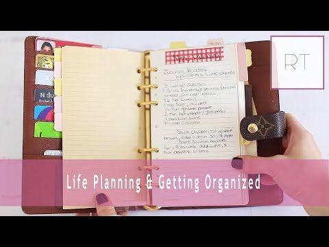 ♥ Life Planning & Getting Organized (My Agenda, Filofax & More)   Rachel Talbott ♥ - YouTube