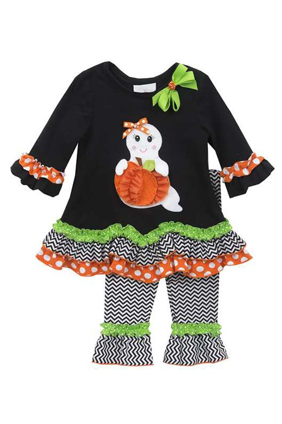 Boo-tiful Halloween Ghost Outfit, kids Halloween clothes, girls Halloween clothes, fall girls clothes, cute Halloween outfits for girls, $35 JennyJoBoutique.com