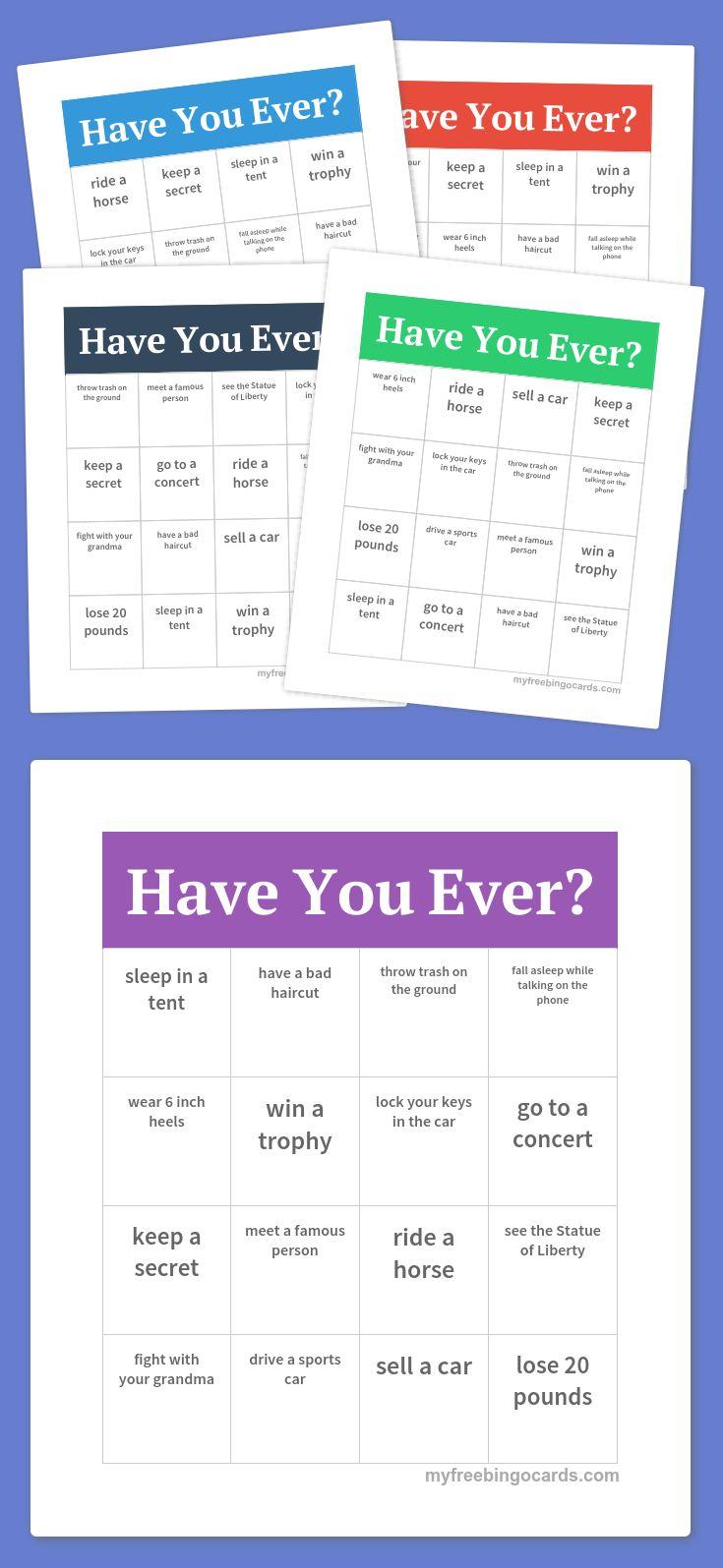have you ever bingo  bingo bible artifice