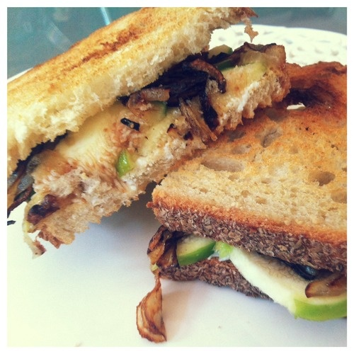 Fig, goat cheese and caramelized onion sandwich - YUM. | Eat ...