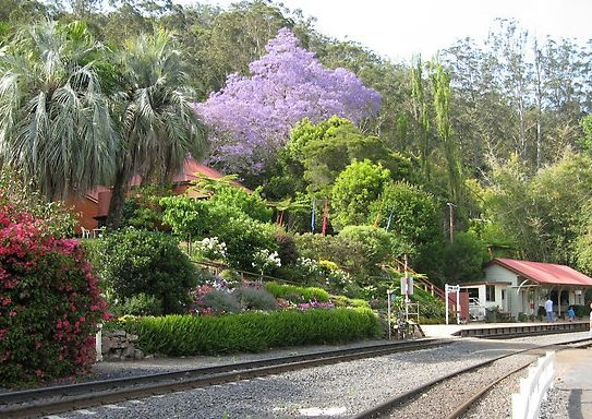 Spring Bluff Railway Station. A great place to visit during the Carnival of Flowers. #Toowoomba #gardens