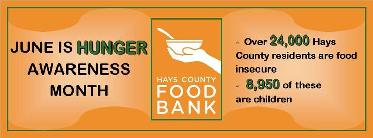 June is Hunger Awareness Month. One in eight Americans faces hunger. Below is a list of local food banks in the Texas area. Pass the information on to a friend or family that might need some help. #ICON #HungerAwarenessMonth