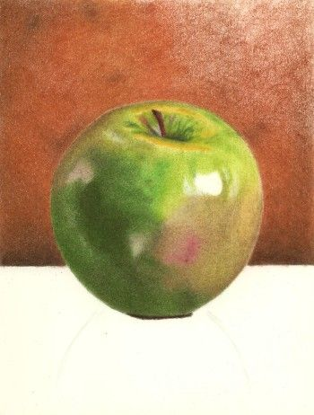 colored pencil drawing - step 16